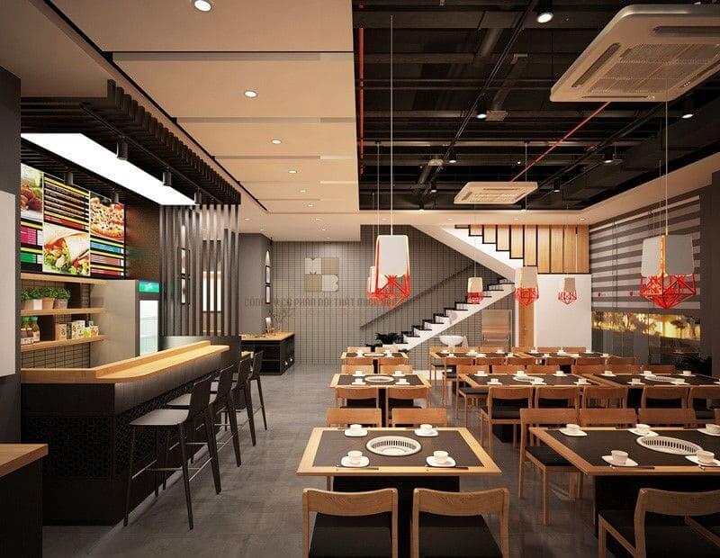 Nội thất nhà hàng đẹp giúp thu hút khách hàng hiệu quả
