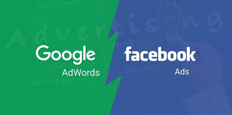Quảng cáo trên Google và Facebook