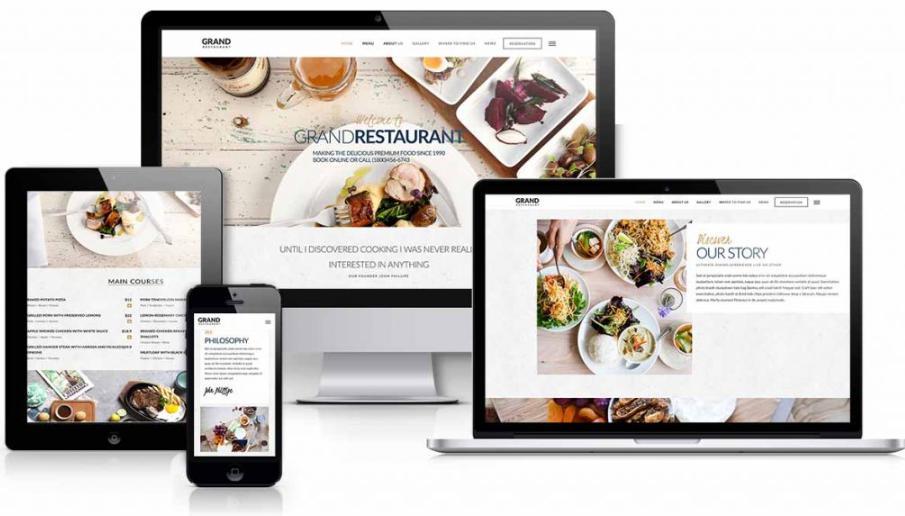 Thiết kế website nhà hàng - khách sạn